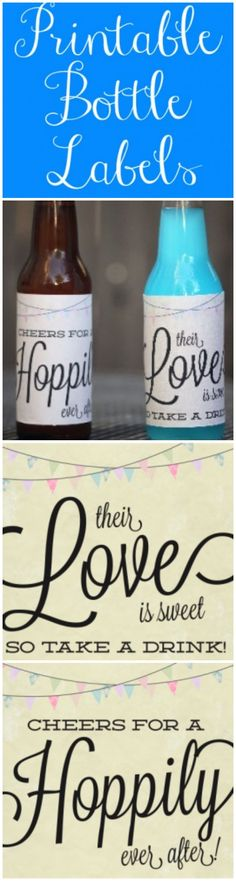 Free Bottle Label Printables from rusticweddingchic.com