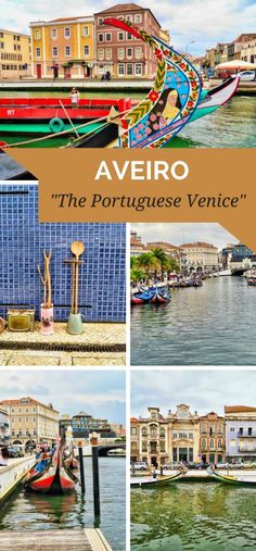 """Aveiro is a small charming town in the North of Portugal with a network of canals that give it the epithet of Aveiro """"The Portuguese Venice"""". Europe Travel Tips, Spain Travel, European Travel, Italy Travel, Travel Destinations, Spain Tourism, Portugal Vacation, Portugal Travel Guide, Portugal Trip"""