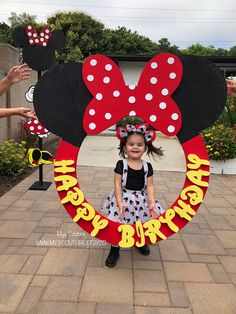 Professionally handmade girls outfits for all occasions by MyxCouture Mickey Mouse Birthday Decorations, Theme Mickey, Mickey 1st Birthdays, Fiesta Mickey Mouse, Minnie Mouse Birthday Cakes, Minnie Mouse Theme, Mickey Birthday, Mickey Party, Decoration Creche