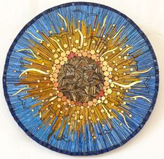ARTFINDER: Chorus at the Wake of the Sun by Kate Rattray - I like the idea of duality in symbols, so here is an eye, but it is also the sun (pupil) in the sky (iris). It is an apocalyptic vision; a chorus of birds wi...