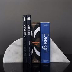 GEO BOOKEND | GEO marble bookend is carefully machined from a solid block of marble. #marble #design #bookend #marbleous