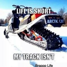 Yep!  Mountain sleds have long tracks!