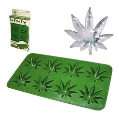 Weed leaf ice cube tray