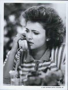 1987 Press Photo Emma Samms stars in The Colbys