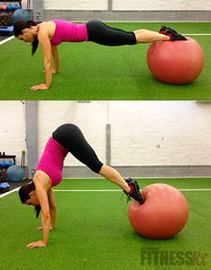 Swiss Ball Pike. The perfect abdominal exercise!