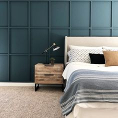 board and batten wall How to DIY a Board and Batten Wall: Dos and Donts Installing Wainscoting, Upholstered Walls, Accent Wall Bedroom, Master Bedroom, Elegant Dining Room, Room Decor, Wall Decor, Wall Molding, Board And Batten