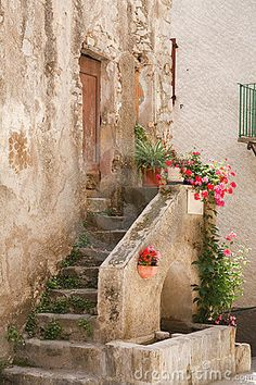 Stone steps, Entrevaux -France