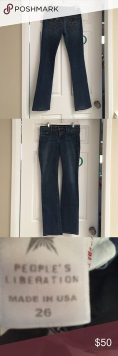 People's Liberation straight leg jeans. Worn once. Like new. Jeans Straight Leg