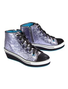 Glitter High Top Wedge Sneakers | Sneakers | Shoes | Shop Justice