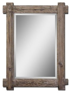 This Claudio wood wall mirror features a rustic, light walnut-stained wood frame with burnished details. The wood mirror also features a generous bevel for added charm and can be hung either horizontally or vertically. House Of Mirrors, Wall Mirrors Entryway, Rustic Wall Mirrors, Wood Framed Mirror, Home Decor Mirrors, Round Wall Mirror, Mirror Collage, Mirror Bedroom, Beveled Mirror