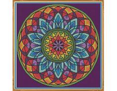Mandala 3 ventana contados puntada cruzada por HornswoggleStore