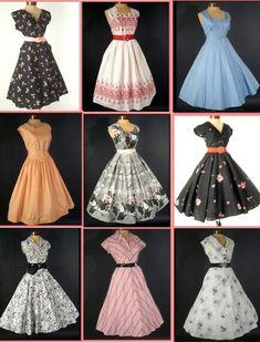 Vestidos tipo años 50.