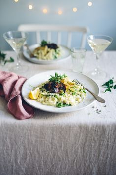 New Year's Risotto with caramelized fennel & miso mushrooms Risotto, Side Dishes, Stuffed Mushrooms, Lunch, Kitchen, Food, Stuff Mushrooms, Cooking, Eat Lunch