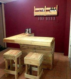 Wooden Pallet Bar Plans                                                                                                                                                                                 More
