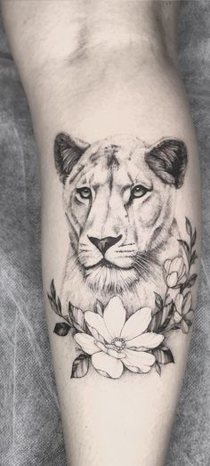 To add near my male lion on my thigh