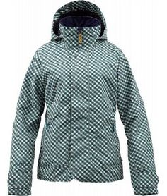 Burton Jet Set Snowboard Jacket Spruce Check A Dot - Women's 2013 listed $169.95, paid $135