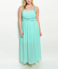 Love this Mint Belted Maxi Dress - Plus by Shop the Trends on #zulily! #zulilyfinds