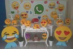Resultado de imagen para decoração da festa dos emojis