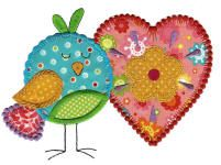 When I say believers I don't just mean GOD.  I also mean believing in Love.  Hence, the Love Birds Applique