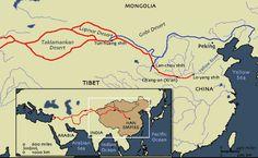 Ancient Silk Road Map - Ancient China Maps - China Highlights