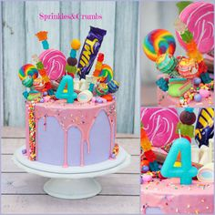 Candy drip cake for kids
