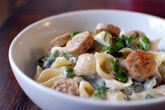 Pasta with Goat Cheese and Asparagus by Pink Parsley Blog