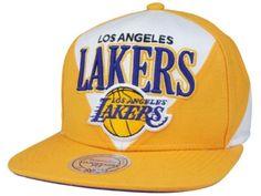 64f75445769 Casquette NBA Los Angeles Lakers Snapback Blanc Jaune Casquette New Era Pas  Cher