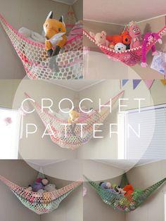PATTERN // Crochet Stuffed Animal Hammock // by TogetherInLove