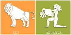 Confira os signos quem têm menos afinidades entre si - ObaOba LEÃO x AQUÁRIO     Leão é frequentemente associado à fama de gostar de se destacar, o que incomoda (e muito) o aquariano, que vive pela atenção. O espírito de líder do leonino também é um sapato na pedra no sapato do aquariano, totalmente avesso à disciplina e ordens.