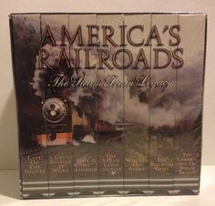 American Railroads History Steam Train Legacy VHS Set Locomotive Wheel Steel USA