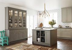 vedum_vitrin Coastal Living Rooms, Kitchen Interior, Interior Design Living Room, Beautiful Kitchen Designs, Beautiful Kitchens, Ikea Kitchen, Kitchen Decor, Interior Design Quotes, Grey Kitchens