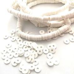 lot de 50 perles Perle en bois Lentille Ø 10 mm Vert clair