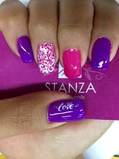 #stanzasalon #nailart #gelish #stamp #love