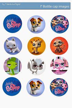 Free Bottle Cap Images: Littlest Pet Shop free digital bottle cap images