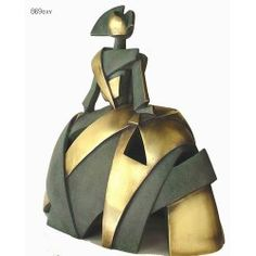Menina Aire y Metal Sculpture Art, Sculptures, Ceramic Figures, Ceramic Painting, Polymer Clay, Projects To Try, Pottery, Dolls, Metal