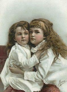 victorian children postcards   bumble button: Late Victorian Antique Photographs of Little Girls Lots ...