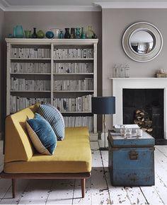 Interior inspiration for a Georgian home - Modern greys & retro pops of colour Retro Living Rooms, Living Room Decor, Georgian Homes, Cute House, Retro Pop, Fireplace Surrounds, Color Pop, Colour, Interior Inspiration
