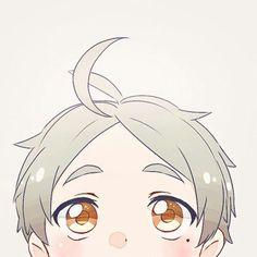 "This chibi is based off the anime ""Haikyū!"" This anime chibi gif is of Kōshi Sugawara. Anime Chibi, Haikyuu Chibi, Kawaii Anime, Haikyuu Gif, Manga Anime, Fanarts Anime, Anime Characters, Manga Boy, Anime Art"