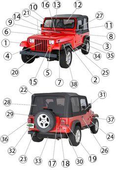22 best jeep yj parts diagrams images morris 4x4 center jeep rh pinterest com