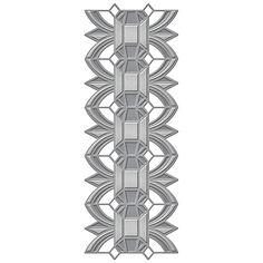 Spellbinders Shapeabilities Arched Diamond Etched Dies S4-591