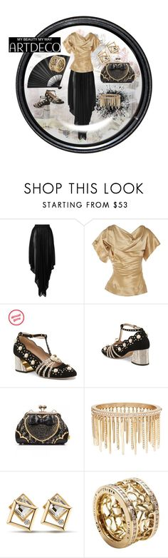 """Night Out on the Town"" by qmaxine ❤ liked on Polyvore featuring Balmain, Vivienne Westwood, Irregular Choice, Jenny Packham and John Brevard"