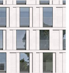 grand synthe france using fundermax for the external facade the perforated panel adds. Black Bedroom Furniture Sets. Home Design Ideas