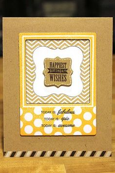 Happiest Birthday Wishes Card by Heather Nichols for Papertrey Ink (July 2012)