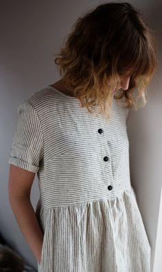 Beautifully simple nautical summer dress by OFFON
