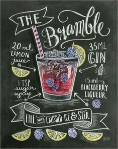 Gin cocktail the bramble