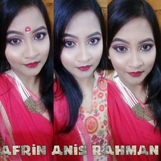 Yesterday's live makeup tutorial look especially created for Durga Puja.  Please pardon me if i did any mistake as i created the look for the festive season   #Lens- Angel Soft Contact Lens in pastel brown  #Lips- Cherish liquid lipstick in A24  #Face- Maybelline superstay setting spray  W7 Prime Magic Primer  L. A. g Girl Color Corrector in orange and peach  Maybelline Fit me matte plus poreless foundation in shade 250 Maybelline age rewind concealer in Neutrilizer  Makeup Revolution Ultra…