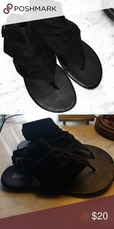 Bongo Boho Chic Slouch Sandals Bongo Boho Chic Slouch Sandals in black. Never worn brand new condition. Side buckle closure. BONGO Shoes Sandals