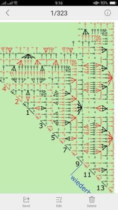 Marion's Garden pattern by DROPS design Crochet Shawl Free, Crochet Shawls And Wraps, Crochet Diagram, Crochet Chart, Crochet Scarves, Crochet Motif, Crochet Lace, Crochet Stitches, Crochet Patterns