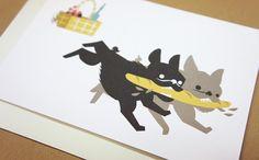 """Picnic"" card, design by Polkka Jam 2013."