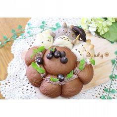 Totoro buns. トトロのちぎりパンシアター♩